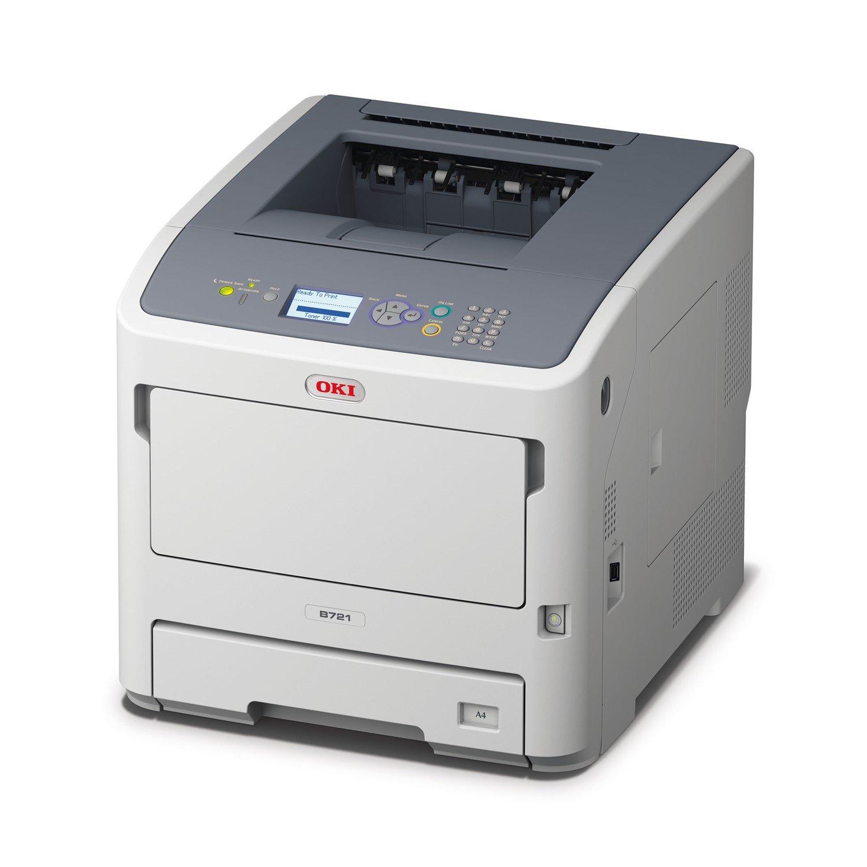 Oki B721DN LED Printer - Monochrome - 1200 x 1200 dpi Print - Plain Paper Print - Floor Standing