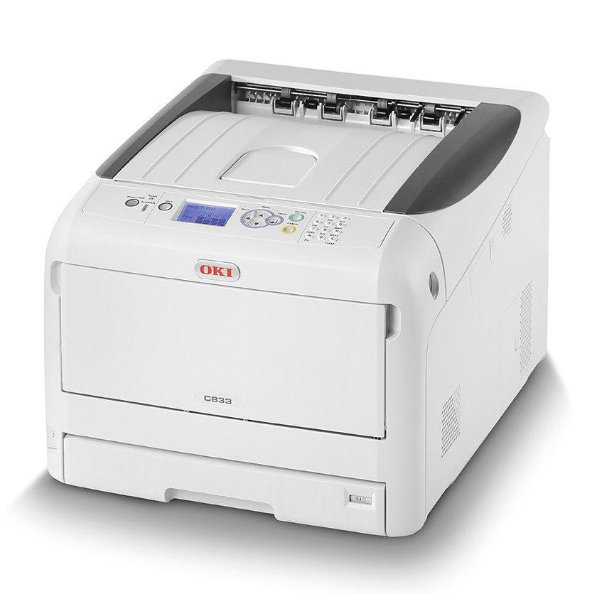 Oki C800 C833n LED Printer - Colour - 1200 x 600 dpi Print - Plain Paper Print - Desktop