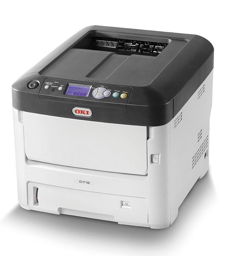 Oki C700 C712n LED Printer - Colour - 1200 x 600 dpi Print - Plain Paper Print - Desktop