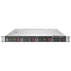 HPE ProLiant DL320e G8 1U Rack Server - 1 x Intel Xeon E3-1220 v3 Quad-core (4 Core) 3.10 GHz - 4 GB Installed DDR3 SDRAM - Serial ATA/600 Controller - 0, 1, 10 RAID Levels - 1 x 300 W