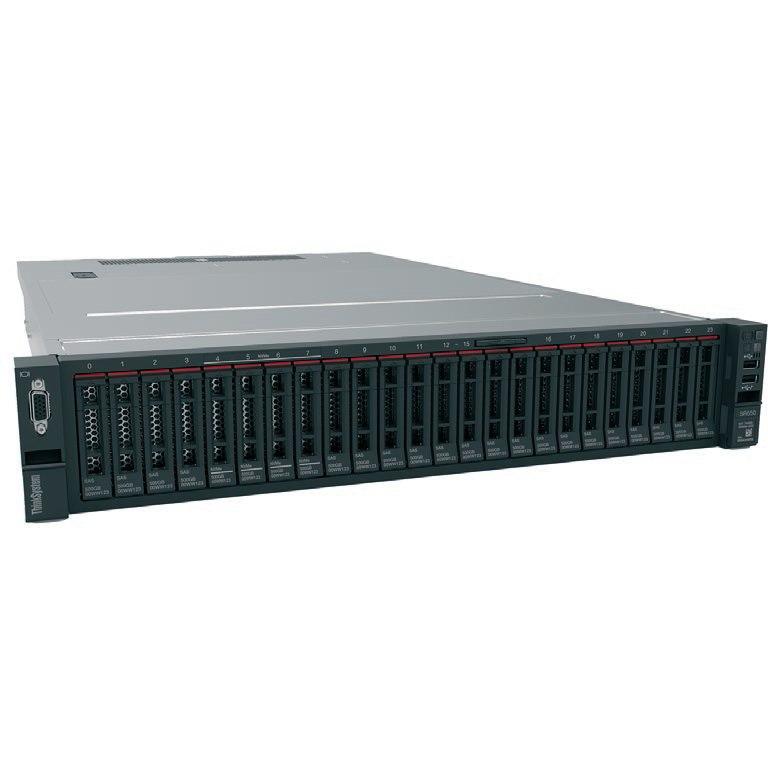 Lenovo ThinkSystem SR650 7X06100AAU 2U Rack Server - 1 x Intel Xeon Silver 4110 Octa-core (8 Core) 2.10 GHz - 16 GB Installed TruDDR4 - 12Gb/s SAS, Serial ATA/600 Controller - 0, 1, 5, 6, 10, 50, 60, JBOD RAID Levels - 1 x 750 W