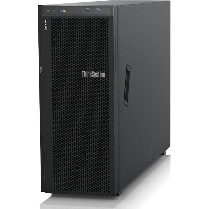 Lenovo ThinkSystem ST550 7X10100FAU 4U Tower Server - 1 x Intel Xeon Silver 4114 Deca-core (10 Core) 2.20 GHz - 16 GB Installed TruDDR4 - 12Gb/s SAS, Serial ATA/600 Controller - 0, 1, 5, 10, 50, JBOD RAID Levels - 1 x 750 W
