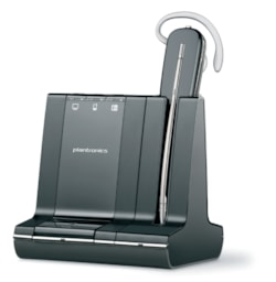 Plantronics Savi W740 Wireless DECT Mono Earset - Over-the-ear, Behind-the-neck, Over-the-head - Outer-ear