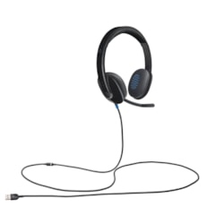 Logitech H540 Wired Stereo Headset - Over-the-head - Ear-cup - Black