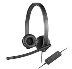 Logitech H570e Wired Stereo Headset - Over-the-head - Supra-aural