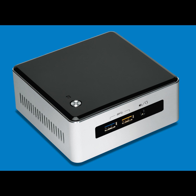 Intel NUC5i5RYH Desktop Computer - Intel Core i5 (5th Gen) i5-5250U 1.60 GHz DDR3L SDRAM - Mini PC - Silver, Black