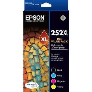 Epson DURABrite Ultra 252XL Original Ink Cartridge Value Pack - Black, Cyan, Magenta, Yellow