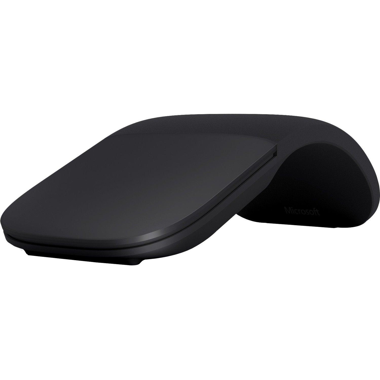 Microsoft Arc Mouse - BlueTrack - Wireless - 2 Button(s) - Black