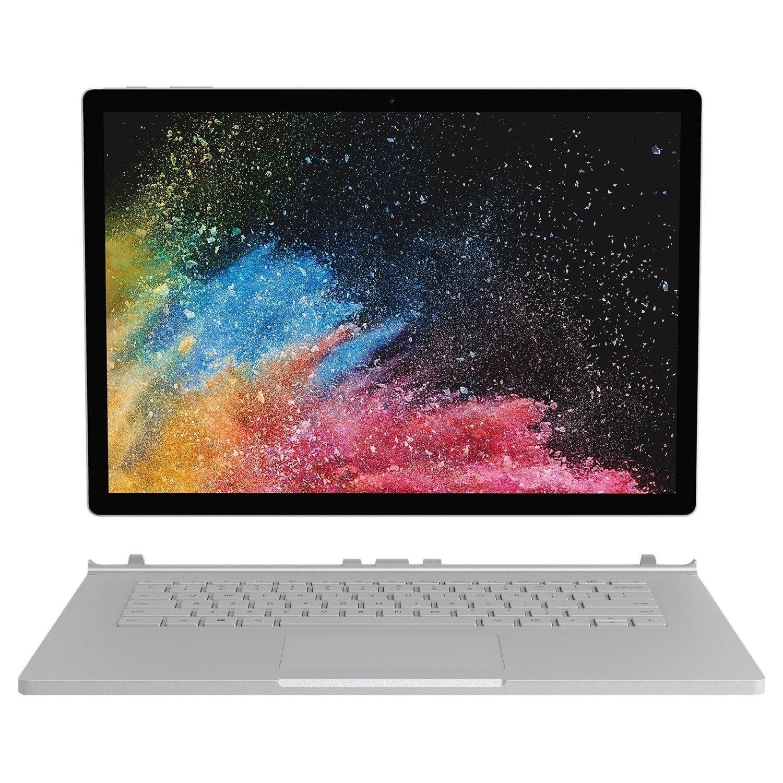 "Microsoft Surface Book 2 38.1 cm (15"") Touchscreen LCD 2 in 1 Notebook - Intel Core i7 (8th Gen) i7-8650U Quad-core (4 Core) 1.90 GHz - 16 GB LPDDR3 - 512 GB SSD - Windows 10 Pro 64-bit - 3240 x 2160 - PixelSense - Hybrid - Silver, Black"