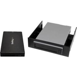 StarTech.com Drive Enclosure Internal/External - Black