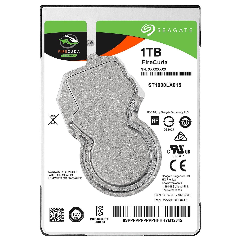 "Seagate FireCuda ST1000LX015 1 TB 2.5"" Internal Hard Drive - SATA"