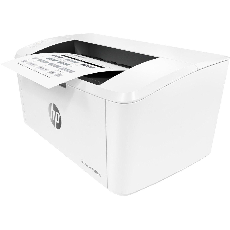 HP LaserJet Pro M15w Laser Printer - Monochrome - 600 x 600 dpi Print - Plain Paper Print - Desktop