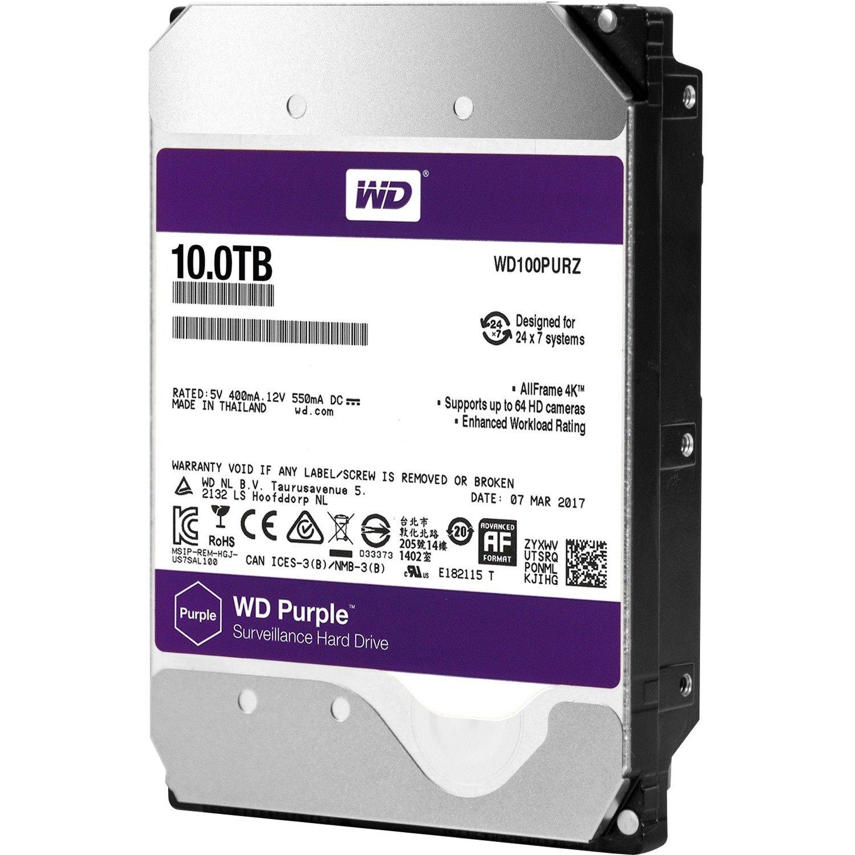 """WD Purple WD100PURZ 10 TB 3.5"""" Internal Hard Drive - SATA"""