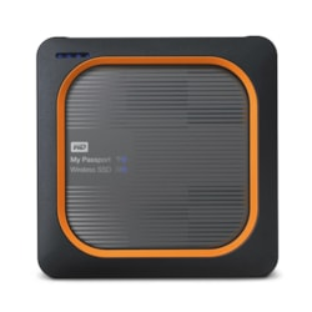 WD My Passport Wireless WDBAMJ0010BGY-PESN 1 TB External Network Solid State Drive - Portable