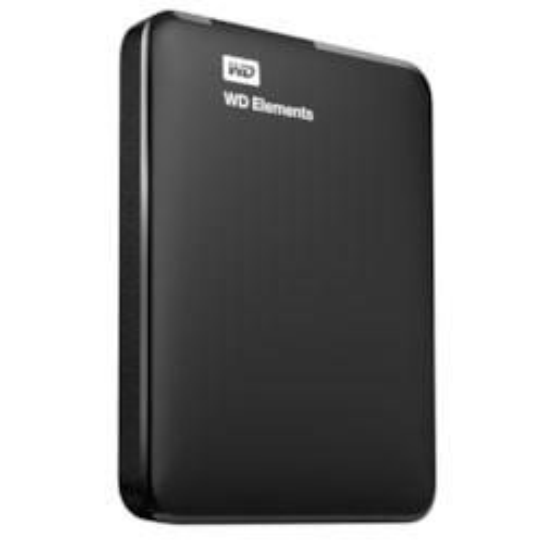 "WD Elements WDBUZG0010BBK 1 TB 2.5"" External Hard Drive - Portable"