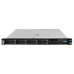 Lenovo System x x3550 M5 8869A2M 1U Rack Server - 1 x Intel Xeon E5-2603 v4 Hexa-core (6 Core) 1.70 GHz - 8 GB Installed TruDDR4 - 12Gb/s SAS, Serial ATA Controller - 0, 1, 10 RAID Levels - 1 x 550 W