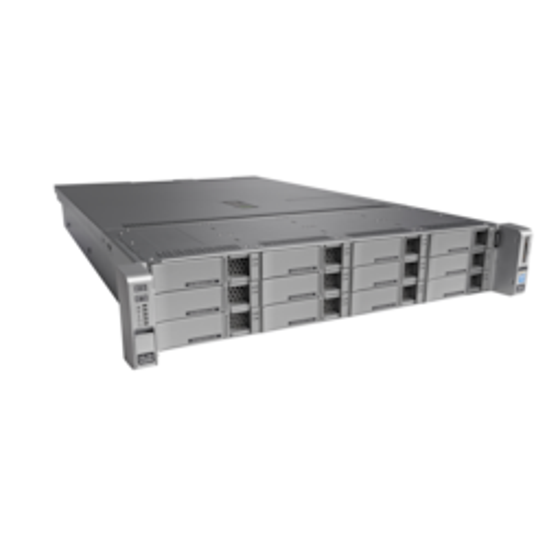 Cisco C240 M4 2U Rack Server - 1 x Intel Xeon E5-2650 v4 Dodeca-core (12 Core) 2.20 GHz - 32 GB Installed DDR4 SDRAM - 12Gb/s SAS Controller - 0, 1, 5 RAID Levels - 1 x 1.20 kW