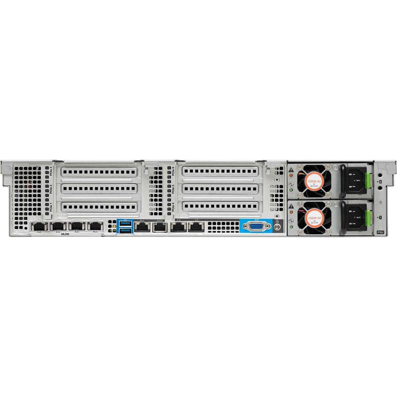 Cisco C240 M4 2U Rack Server - 1 x Intel Xeon E5-2609 v4 Octa-core (8 Core) 1.70 GHz - 32 GB Installed DDR4 SDRAM - 12Gb/s SAS Controller - 0, 1, 10 RAID Levels - 1 x 1.20 kW