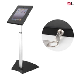 Brateck Anti-Theft Secure Enclosure Countertop Stand For iPad 2, iPad 3, iPad 4, iPad Air &Amp; iPad Air 2 - Black With Adjustable Height Function