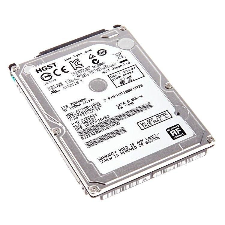 HGST 7K1000 1TB 2.5' Sata 7200RPM HDD, 8MB Cache, Hts721010a9e630