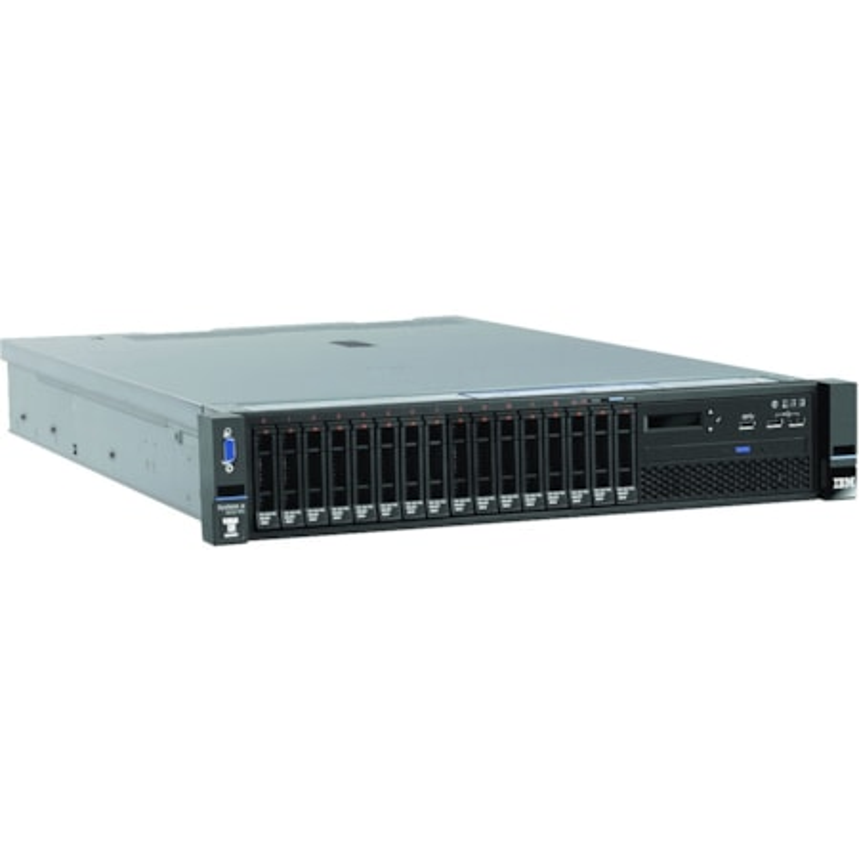 Lenovo System x x3650 M5 887110X 2U Rack-mountable Server - 1 x Intel Xeon E5-2603 v4 Hexa-core (6 Core) 1.70 GHz - 8 GB Installed TruDDR4 - 12Gb/s SAS, Serial ATA/600 Controller - 0, 1, 10 RAID Levels - 1 x 550 W