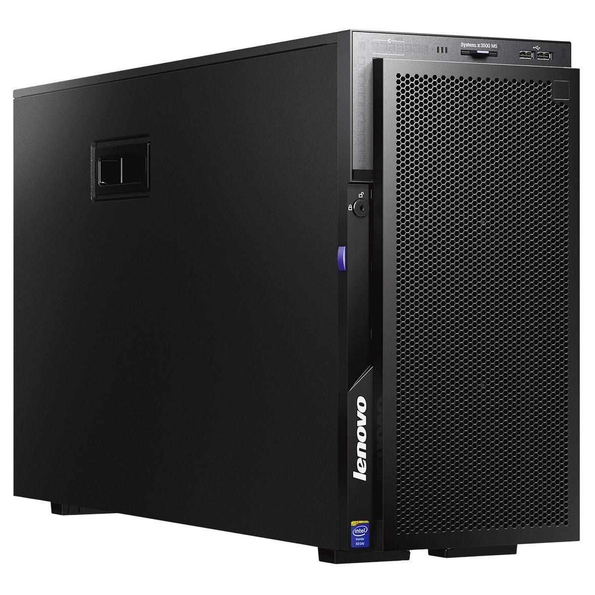 Lenovo System x x3500 M5 5464B2M 5U Tower Server - 1 x Intel Xeon E5-2609 v3 Hexa-core (6 Core) 1.90 GHz - 8 GB Installed DDR4 SDRAM - 12Gb/s SAS, Serial ATA/600 Controller - 0, 1, 10 RAID Levels - 1 x 550 W